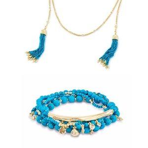 NWOT Kendra Scott Monique tassel necklace/bracelet